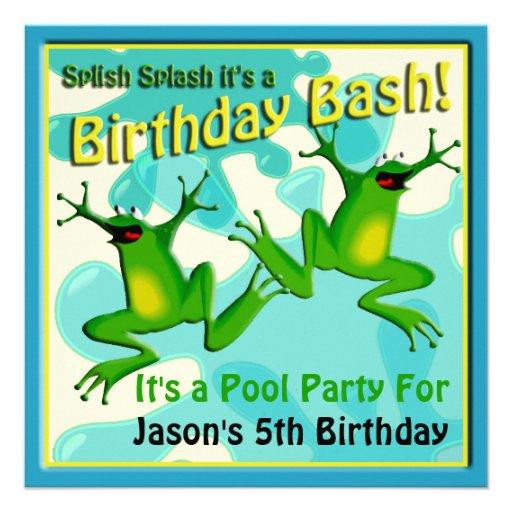 Convite engraçado dos sapos do aniversário da fest