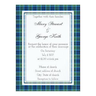 Convite escocês do casamento de Keith