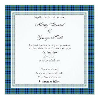 Convite escocês do quadrado do casamento de Keith