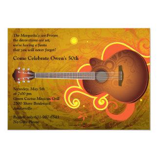 Convite espanhol da guitarra