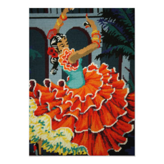 Convite espanhol do dançarino do Flamenco