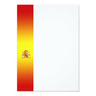 Convite espanhol do painel da bandeira