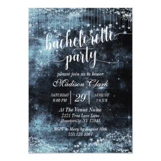 Convite estrelado da festa de solteira da aguarela