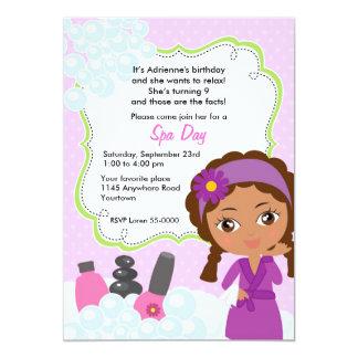 Convite étnico do aniversário do dia dos termas