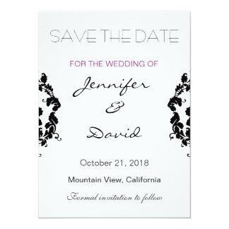 Convite exclusivo do casamento do damasco clássico
