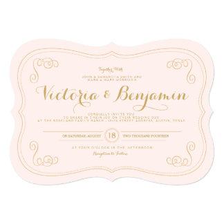 Convite extravagante do casamento do caso - cora &