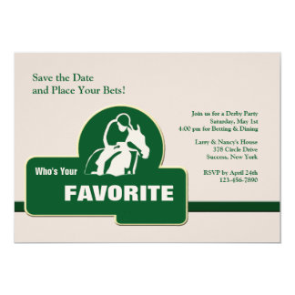 Convite favorito da corrida de cavalos