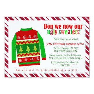 Convite feio da festa de Natal da camisola do Convite 12.7 X 17.78cm