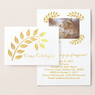 Convite feito sob encomenda da foto do aniversário