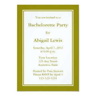 Convite feito sob encomenda da verde azeitona
