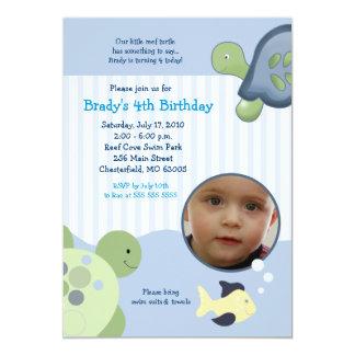 Convite feito sob encomenda do aniversário da foto