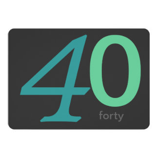 Convite feito sob encomenda do aniversário de 40