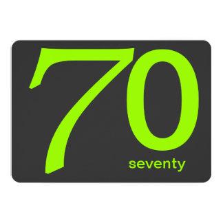 Convite feito sob encomenda do aniversário do 70