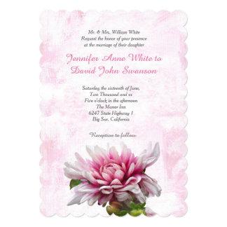 Convite feito sob encomenda do casamento da dália