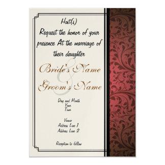 Convite feito sob encomenda do casamento do