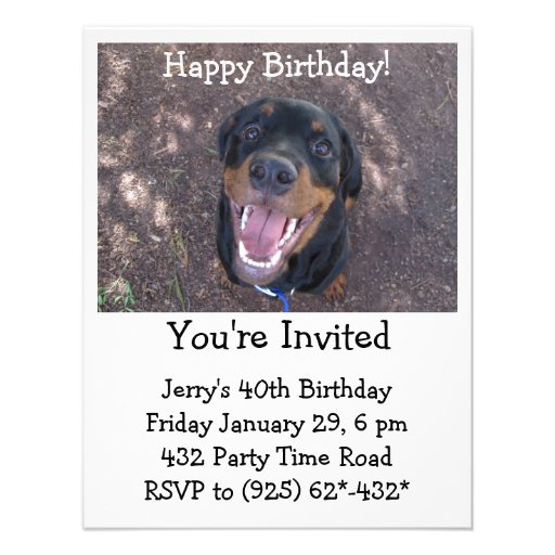 Convite feliz de Heidi Rottweiler