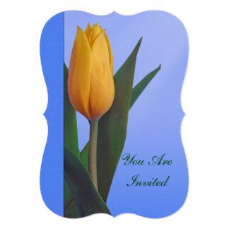 Convite, festa de aniversário, flor dourada da