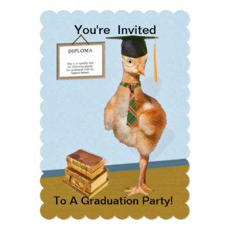 Convite, festa de formatura, pássaro de bebê,