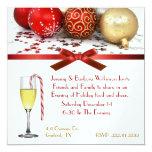 Convite festivo da festa de Natal do vidro de