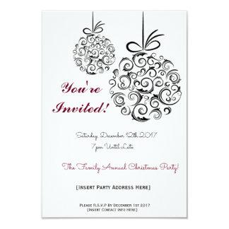 Convite festivo do Natal da celebração de família