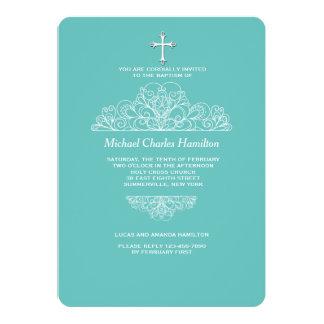 Convite filigrana religioso da cerceta