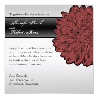 Convite fino do casamento da dália preta