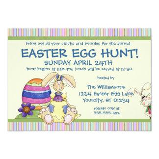Convite flexível da caça do ovo da páscoa do