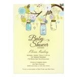 Convite floral azul chique do chá de fraldas do fr