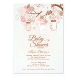 Convite floral cor-de-rosa chique do chá de