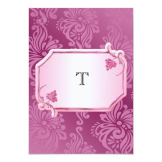 Convite floral cor-de-rosa do casamento do
