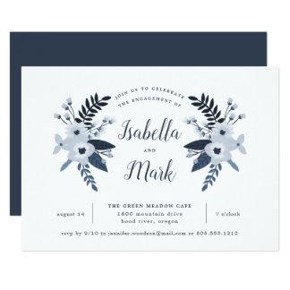 Convite floral da festa de noivado de Delft