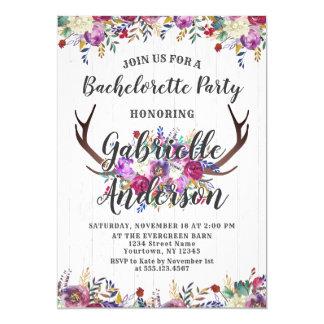 Convite floral da festa de solteira do Antler dos