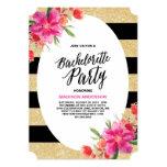 Convite floral da festa de solteira do encanto |