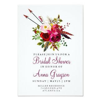 Convite floral de Bridalshower da aguarela de