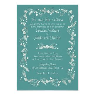 Convite floral delicado do casamento