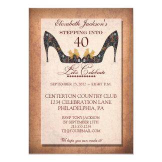 Convite floral do aniversário de 40 anos dos