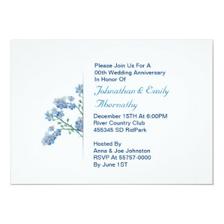 convite floral do aniversário de casamento