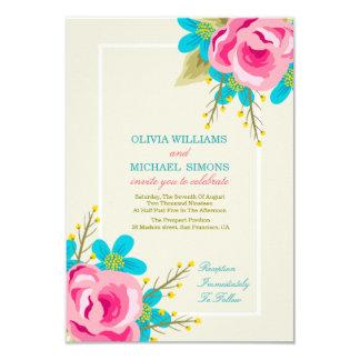 Convite floral do casamento com flores