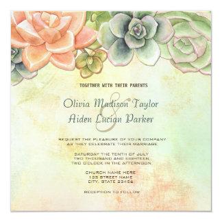 Convite floral do casamento da aguarela do