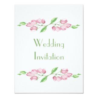 Convite floral do casamento da flor de cerejeira