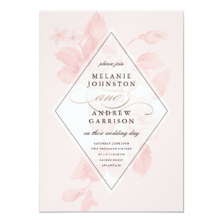 Convite floral do casamento da folha do falso do