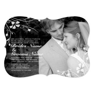 Convite floral do casamento da foto