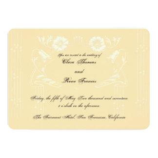 Convite floral do casamento da obra-prima