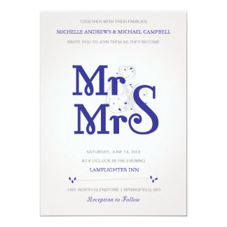 Convite floral do casamento de Amperstand no