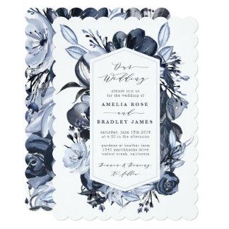 Convite floral do casamento do amor do vintage