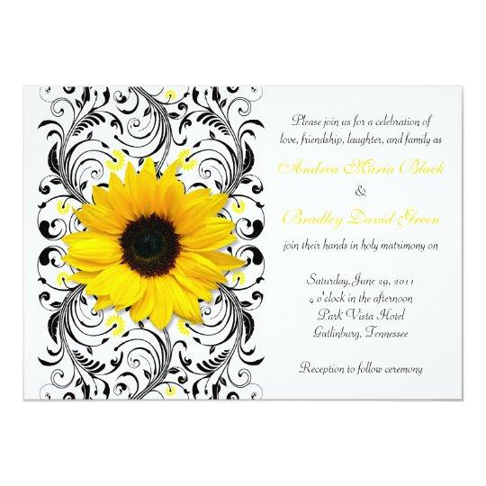 15 Años Con Tema De Girasoles: Convite Floral Do Casamento Do Girassol