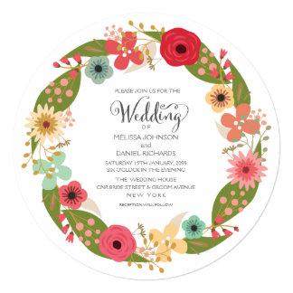 Convite floral do casamento do jardim da grinalda