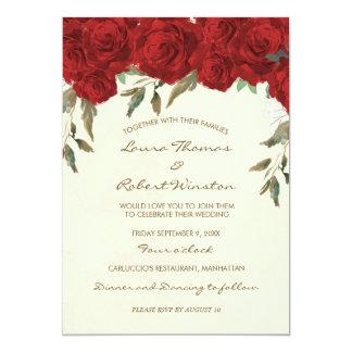 Convite floral do casamento do marfim das rosas