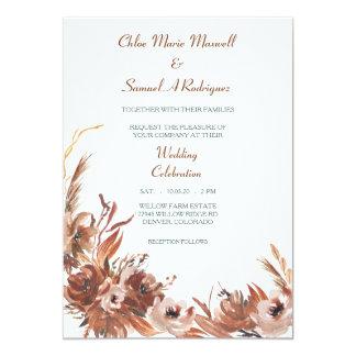 Convite floral do casamento do outono do Sepia