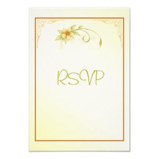 Convite floral do casamento do primavera ocasional